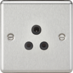 Knightsbridge Brushed Chrome 5A Socket CL5ABC