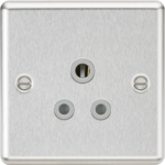 Knightsbridge Brushed Chrome 5A Socket CL5ABCG