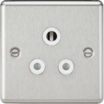 Knightsbridge Brushed Chrome 5A Socket CL5ABCW