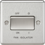 Knightsbridge Brushed Chrome Fan Isolator Switch CL11BC