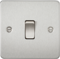 Knightsbridge Brushed Chrome Flat Plate Intermediate Switch FP1200BC