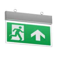 Knightsbridge EMSWING 230V IP20 Ceiling Mounted LED Emergency Exit Sign maintained/non-maintained