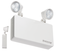 Knightsbridge EMTWINPC 230V IP20 6W LED Twin Spot Emergency Light