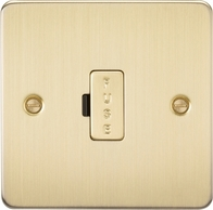 Knightsbridge Flat Plate Brushed Brass 13A Fused Spur FP6000BB
