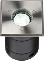 Knightsbridge Ground Light WSULED Stainless Steel