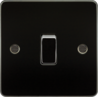 Knightsbridge Gunmetal Flat Plate Intermediate Switch FP1200GM
