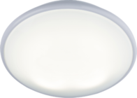 Knightsbridge IP20 28W 2D HF Emergency Bulkhead with Opal Diffuser and White Base TP28W2DEMHF