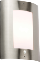 Knightsbridge NH027S IP44 E27 40 Watt Max Outdoor Wall Fixture Stainless Steel comes with PIR