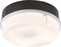 Knightsbridge IP65 16W Round Bulkhead with Opal Diffuser and Black Base TPR16BOHF