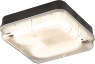Knightsbridge IP65 28W HF Square Bulkhead with Prismatic Diffuser and Black Base TPS28BPHF