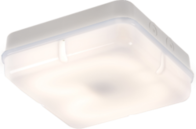 Knightsbridge IP65 28W HF Square Emergency Bulkhead with Opal Diffuser and White Base TPS28WOEMHF