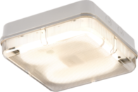 Knightsbridge IP65 28W HF Square Emergency Bulkhead with Prismatic Diffuser and White Base TPS28WPEMHF