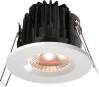 Knightsbridge IP65 7W LED 3000K Warm White Downlight comes with White Round Bezel VFRCOBWW