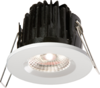 Knightsbridge IP65 7W LED 4000K Cool White Downlight with White Bezel VFRCOBCW