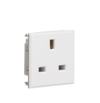 Knightsbridge NET13WH 13A 1Gang Unswitched Socket Outlet White
