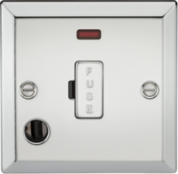 Knightsbridge Polished Chrome 13A Fused Spur Unit with Neon & Flex Outlet CV6FPC