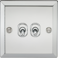 Knightsbridge Polished Chrome 2G Toggle Switch CVTOG2PC