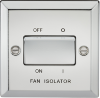 Knightsbridge Polished Chrome Fan Isolator Switch CV11PC