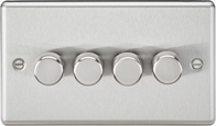 Knightsbridge Rounded Edge Brushed Chrome 4G 2W Dimmer CL2184BC