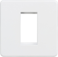 Knightsbridge Screwless Matt White 1G Modular Faceplate SF1GMW