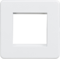 Knightsbridge Screwless Matt White 2G Modular Faceplate SF2GMW