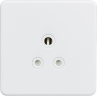 Knightsbridge Screwless Matt White 5A Unswitched Round Socket SF5AMW