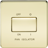 Knightsbridge Fan Isolator Switch Polished Brass SF1100PB