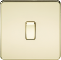 Knightsbridge 1Gang Intermediate Switch Polished Brass SF1200PB