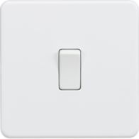 Knightsbridge Screwless Matt White 1Gang 2Way Light Switch SF2000MW