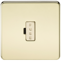 Knightsbridge SF6000PB Fused Connection Unit Polished Brass