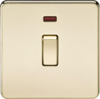 Knightsbridge 1Gang 20A DP Switch with Neon Polished Brass SF8341NPB