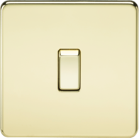 Knightsbridge 1Gang 20A DP Switch Polished Brass SF8341PB