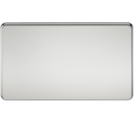 Knightsbridge Twin Blank Plate Polish Chrome SF8360PC
