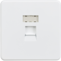 Knightsbridge Screwless Matt White RJ45 CAT5E Network Outlet SFRJ45MW
