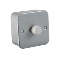 Knightsbridge1Gang 2Way Metal Clad M2161 60-400w Dimmer Switch