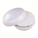 LED Motion Sensor Bulkhead 15w Luna White Body Opal Diffuser LUNALED2D16MS