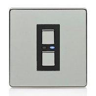 LightwaveRF Remote Control Slave Dimmer Polished Chrome JSJSLW450C