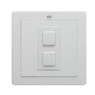 LightwaveRF Wire Free Dimmer Switch White Metal JSJSLW201WH