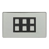 LightwaveRF Remote Control Dimmer 3 Gang Polished Chrome JSJSLW430C