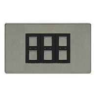 LightwaveRF Remote Control Dimmer 3 Gang Stainless Steel JSJSLW430SS