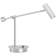 L&K Classic LED Dimmable Table Lamp Brushed Steel 210293