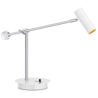 L&K Classic LED Dimmable Table Lamp White 210231
