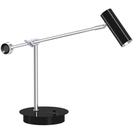 L&K Classic LED Dimmable Table Lamp Black 210230