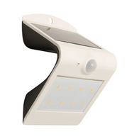 Luceco Guardian White Solar Wall Light LEXS30W30