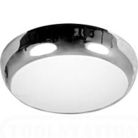 Luna Range High Frequency Bulkhead 2D 28w Chrome/Opal LUN28HF/CHR