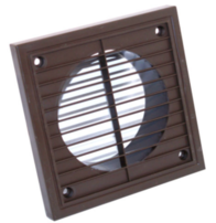 Manrose Exterior Fan 6 Inch Grill Fixed Brown 1192BROWN