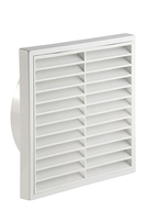 Manrose Exterior Fan 6 Inch Grill Fixed White 1192WHITE
