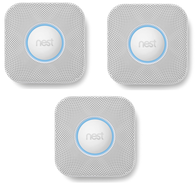 Nest Protect 2nd Generation Battery Smoke & CO Alarm (Pack of 3)