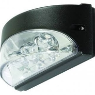 NiteLED Wall Arc 3w LED Wall Light Black JC39407