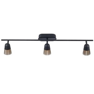 Nordlux Arles 3 x 3w LED Ceiling Light Bar in Black 63270003